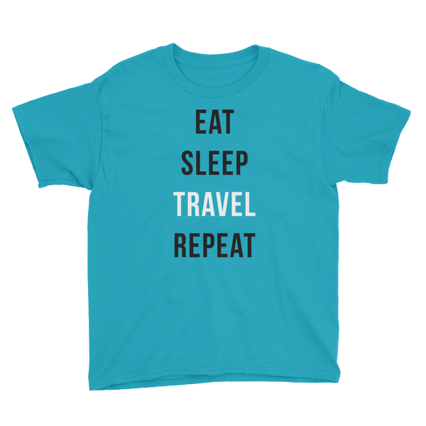 EAT SLEEP TRAVEL REPEAT Boys T-Shirt