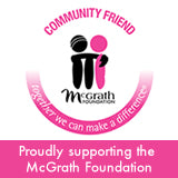 McGrath Foundation badge for community support