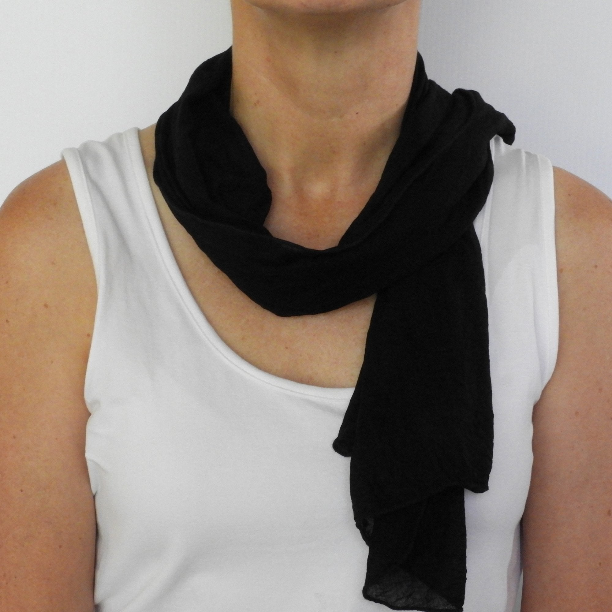 black neck-scarf