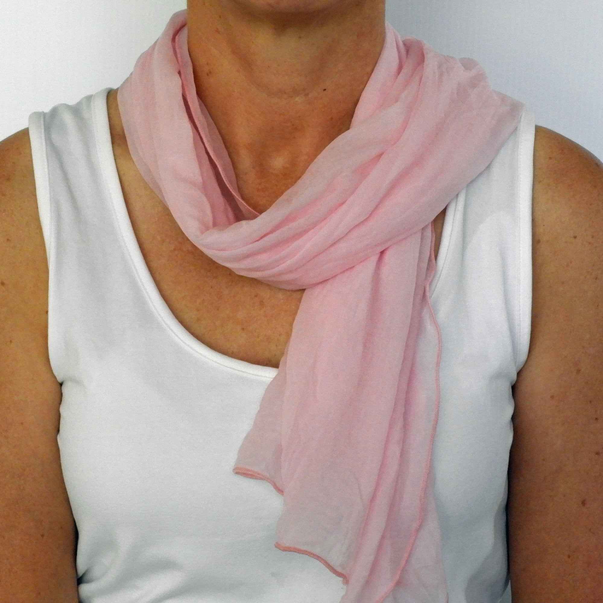 cherry blossom pink neck-scarf