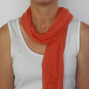 burnt orange neck-scarf
