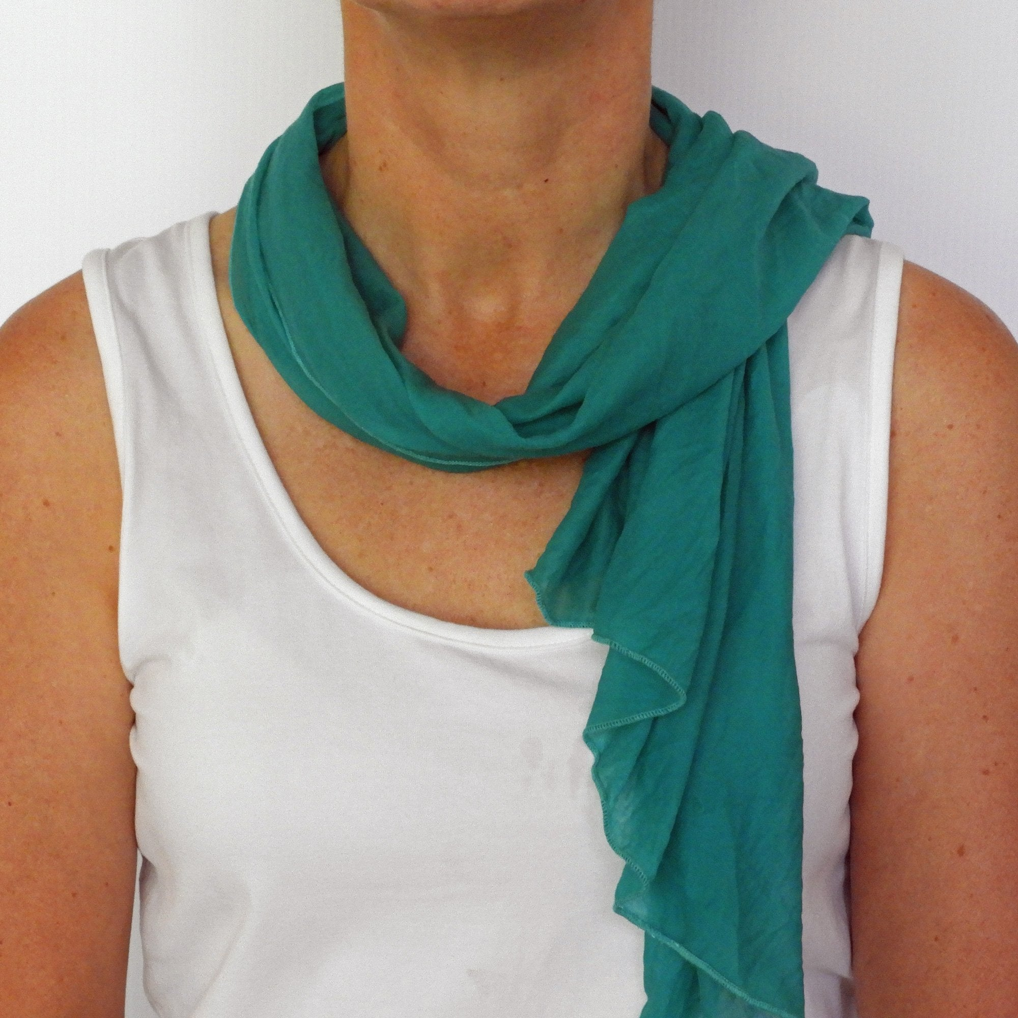 medium sea green neck-scarf