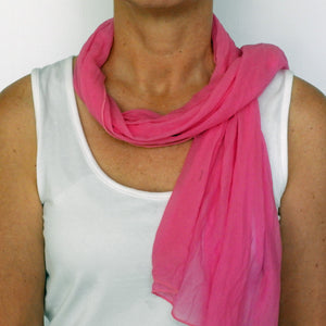 perfect pink neck-scarf
