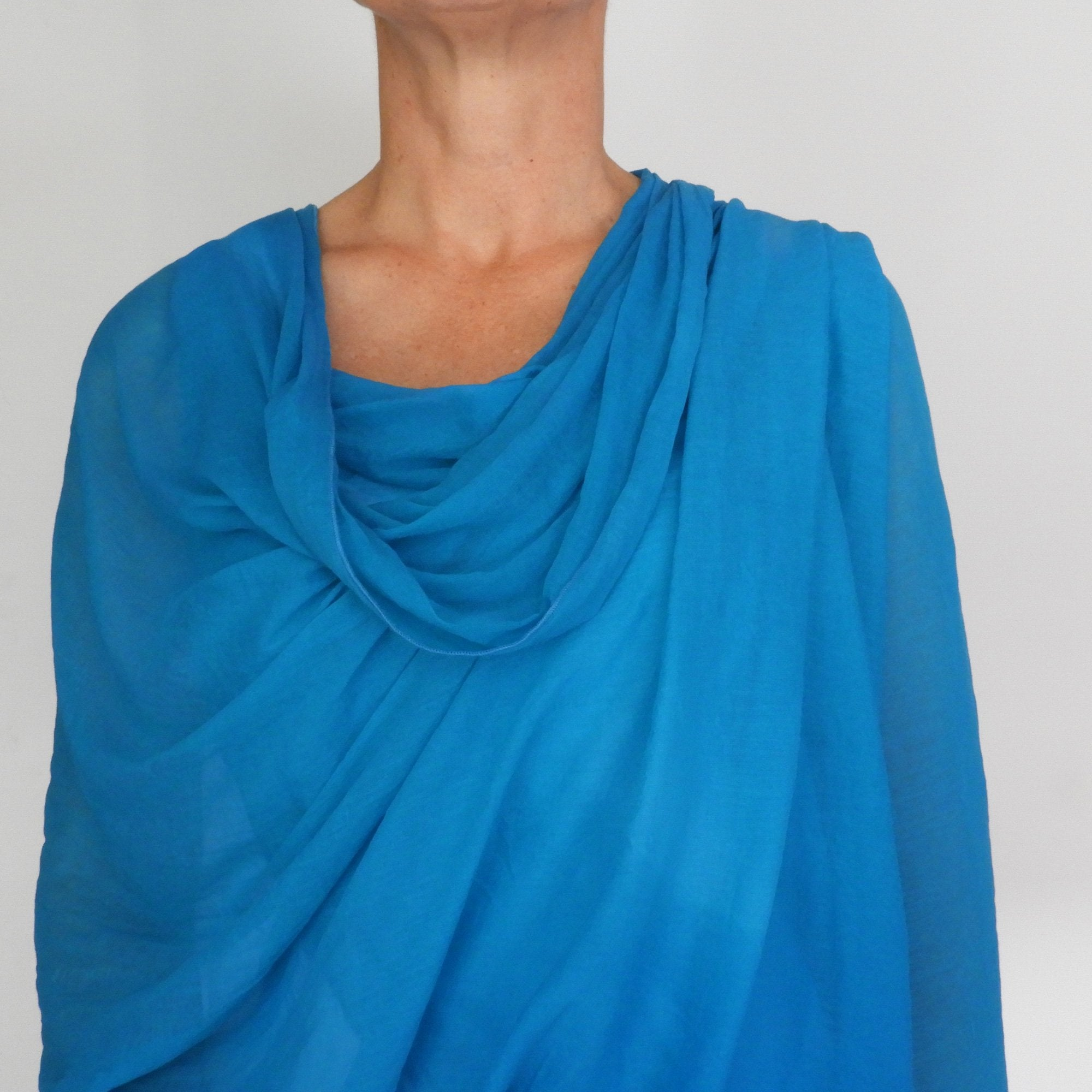Sophie's turquoise wrap