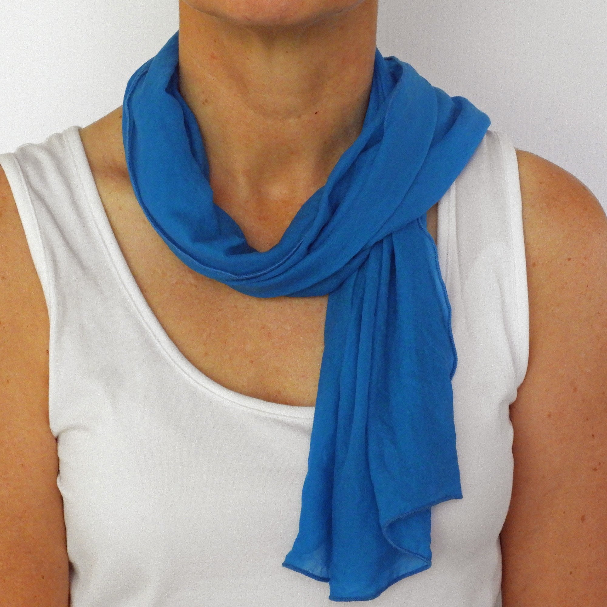 Sophie's turquoise neck-scarf