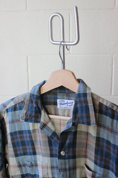 Mixed Greens Plaid Shirt