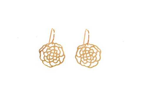 Camellia Earrings - Gold