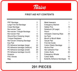 First Aid Kit - 291 Pieces - Bag