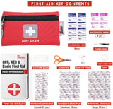 Thrive Roadside Assistance Auto Emergency Kit + First Aid Kit - Square Bag