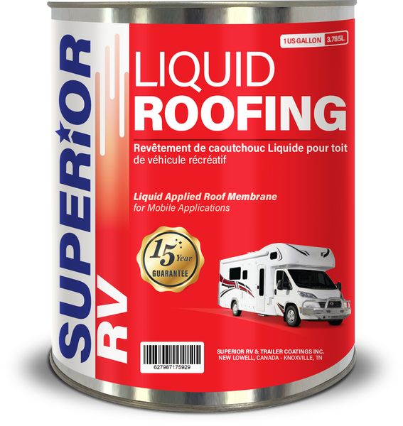 Superior RV One Part Liquid Rubber Roofing, 1 Gallon | FREE Shipping