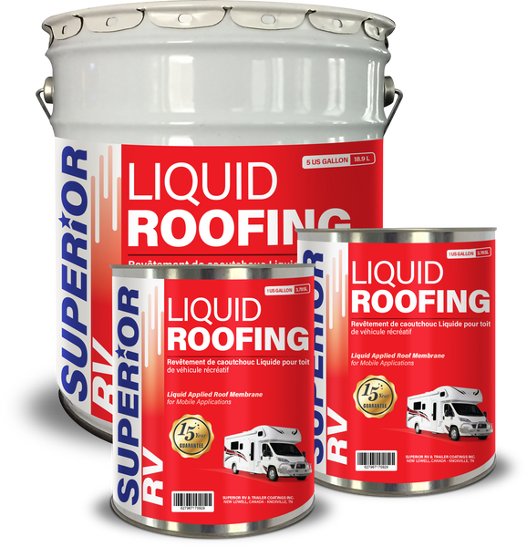 Superior RV Liquid Rubber Roofing for 30-34ft RV, Camper, Trailer, Motorhome 7 Gallons FREE Shipping
