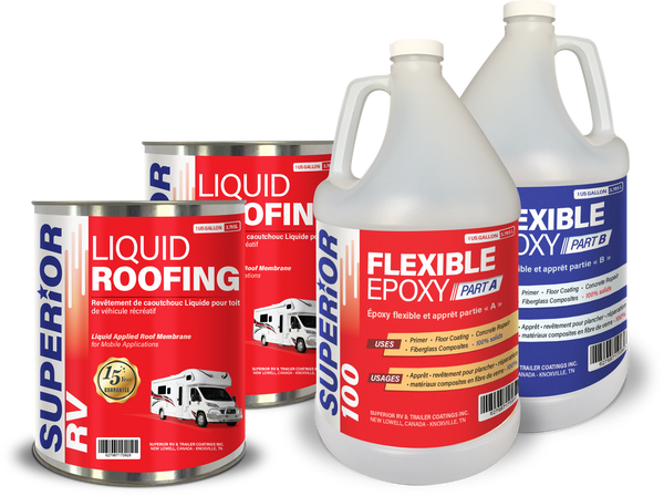 RV Roof Coating Kit for ALPHA, EPDM, OLD COATINGS for RVs up to 20 ft RV Roof