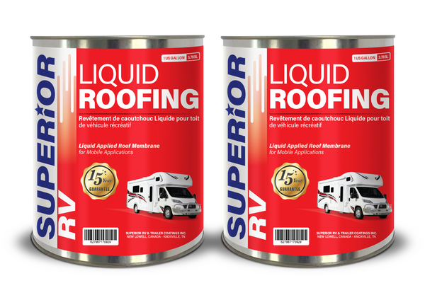 Superior RV One Part Liquid Rubber Roofing, 2 Gallon | FREE Shipping