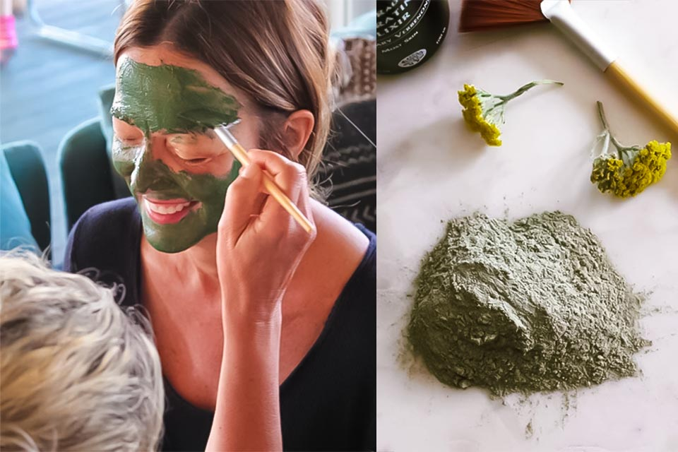 Woman applying Benedetta's Seaweed Mask
