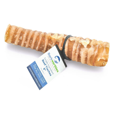 "Barkworthies Beef Trachea - 06"" Dog Treat"