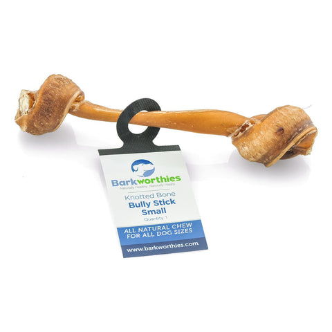 Barkworthies Bully Stick - Knotted Bone - Small Dog Treat