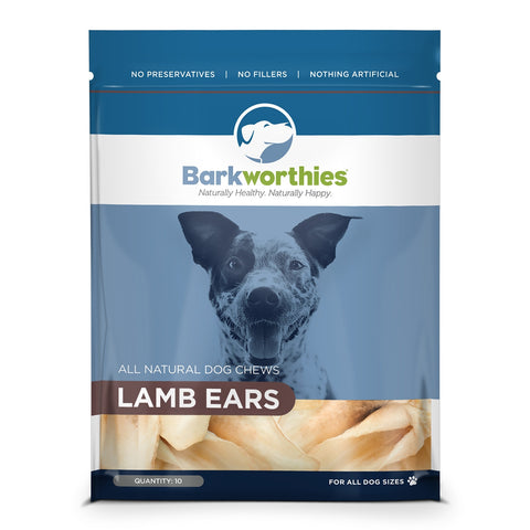 Barkworthies Lamb Ears-10 pack Dog Treat