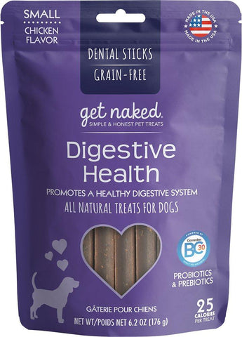 Get Naked® Dental Chew Sticks, Digestive Health, Small