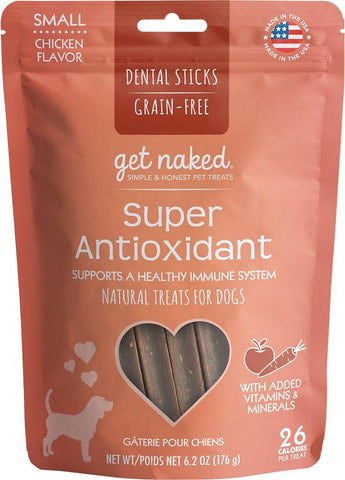 Get Naked® Dental Chew Sticks, Super Antioxidant, Small