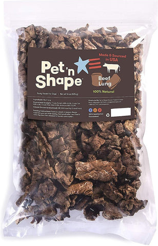 Pet 'n Shape® Made & Sourced in the USA Beef Lung Dog Treats