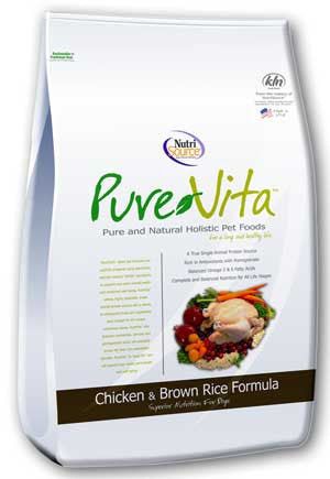 PureVita™ Chicken and Brown Rice Formula Dinner Dog Food