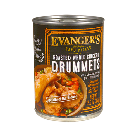 Evanger's Roasted Chicken Drummet Dinner Dog Food – Packed By Hand!