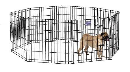Midwest Black E-Coat Exercise Pen with Door