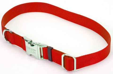 Coastal Pet Products Titan Metal Buckle Adjustable Nylon Medium Dog Collar