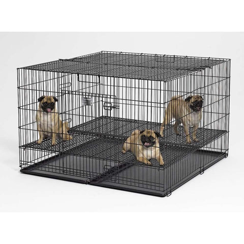 Midwest Puppy Playpen with Plastic Pan and 1 Inch Floor Grid