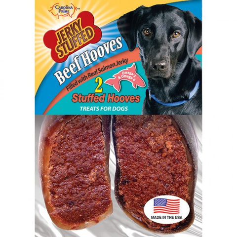 Carolina Prime Beef Hooves-Salmon Jerky Stuffed for Dogs