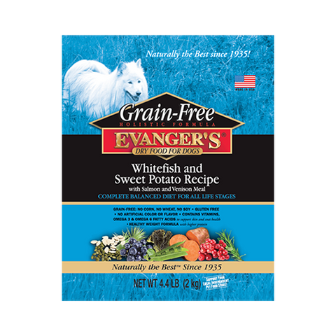 Evanger's Grain Free Whitefish & Sweet Potato Dry Food