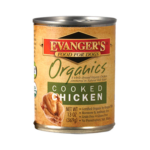 Evanger's 100% Organic Cooked Chicken Dog Food