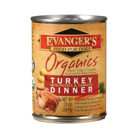 Evanger's Organic Turkey With Potato & Carrots Dinner Dog Food