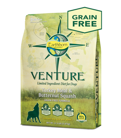 Earthborn Holistic Venture™ Turkey Meal & Butternut Squash Dry Dog Food