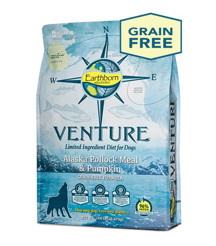 Earthborn Holistic Venture™ Alaska Pollock Meal & Pumpkin Dry Dog Food