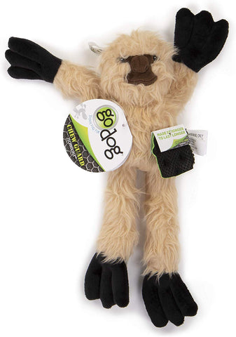 goDog® Crazy Tugs Sloth with Chew Guard Plush Dog Toy