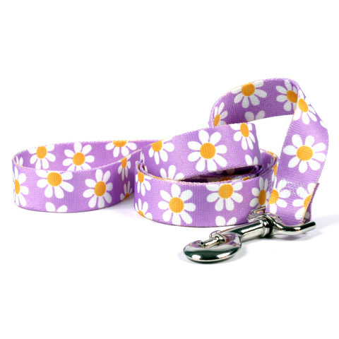 Yellow Dog - Lavender Daisy Leash