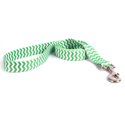 Yellow Dog - Chevron Lime Leash
