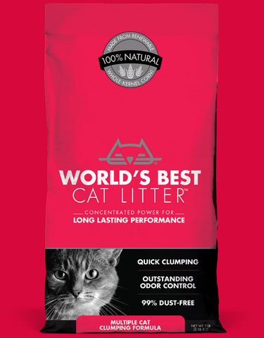 World's Best Cat Litter Multiple Cat Clumping