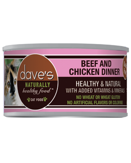 Dave's Naturally Healthy™ Grain Free Canned Cat Food Beef & Chicken Dinner Formula
