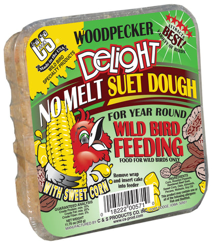 C and S Woodpecker Delight No Melt Suet Dough