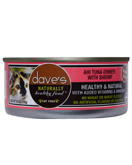 Dave's Naturally Healthy Cat Food Ahi Tuna & Shrimp Dinner