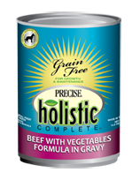 Precise Holistic Complete Grain Free Beef With Vegetables Dog Food