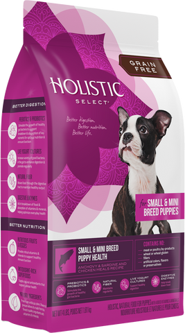 Holistic Select® Grain Free Small Mini Breed Puppy Health