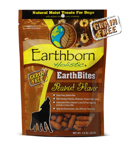 Earthborn Holistic EarthBites™ Peanut Flavor Treats For Dogs