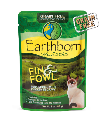 Earthborn Holistic Fin & Fowl ™ Tuna Dinner with Chicken in Gravy For Cats