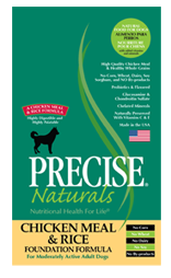 Precise Naturals Chicken Meal & Rice Foundation Dog Food