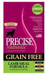 Precise Naturals Grain Free Lamb Meal Dog Food