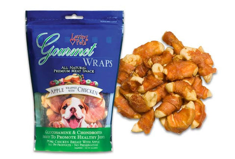 Gourmet Apple Chicken Wraps for Dogs