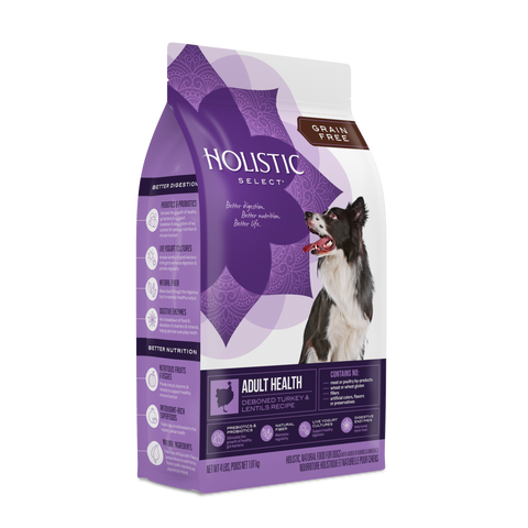 Holistic Select® Grain Free Adult Health Deboned Turkey & Lentils Dog Food